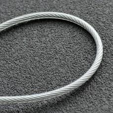 Трос в полиэтиленовой оплетке 5 мм DIN 3055 (6*7) оцинкованный бухта 100 м