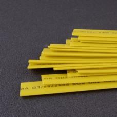 Термоусаживаемая трубка 10мм желтый (пак 1м*20шт)