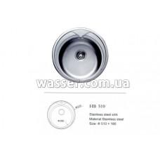 Кухонная мойка Haiba 510X180 глянец