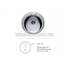 Кухонная мойка Haiba 510X180 сатин