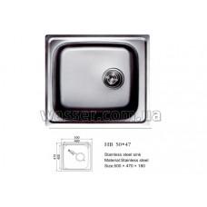 Кухонная мойка Haiba 500X470 сатин