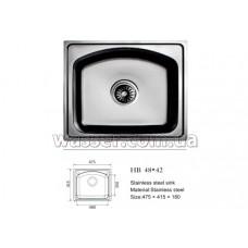 Кухонная мойка Haiba 480X420 микродекор