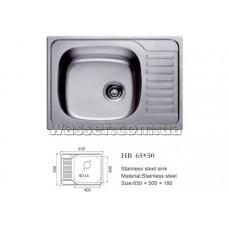 Кухонная мойка Haiba 650X500 сатин