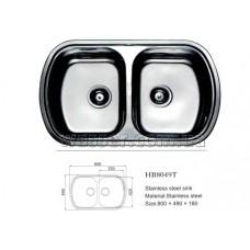 Кухонная мойка Haiba 800X490 микродекор