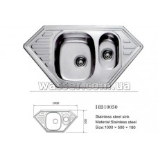 Кухонная мойка Haiba 1000X500 сатин