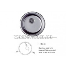 Кухонная мойка Haiba 440X180 глянец