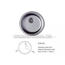 Кухонная мойка Haiba 440X180 сатин