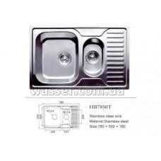 Кухонная мойка Haiba 780X500 ARM сатин
