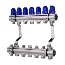 """Коллекторный блок Koer KR.1100-07 1""""x7 WAYS с термостатическими клапанами"""