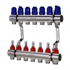 """Коллекторный блок Koer KR.1110-07 1""""x7 WAYS с расходомерами"""