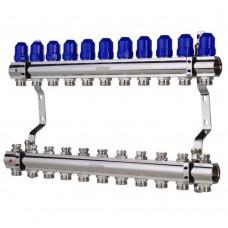 """Коллекторный блок Koer KR.1100-11 1""""x11 WAYS с термостатическими клапанами"""