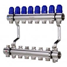 """Коллекторный блок Koer KR.1100-08 1""""x8 WAYS с термостатическими клапанами"""