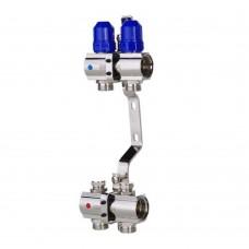 """Коллекторный блок Koer KR.1100-02 1""""x2 WAYS с термостатическими клапанами"""