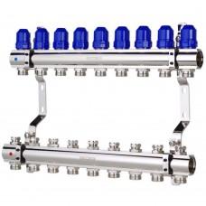 """Коллекторный блок Koer KR.1100-09 1""""x9 WAYS с термостатическими клапанами"""