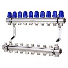 """Коллекторный блок Koer KR.1100-10 1""""x10 WAYS с термостатическими клапанами"""