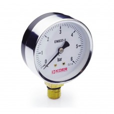 Манометр Koer радиальный 610R 6 bar, D=63мм, 1/4''