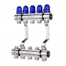 """Коллекторный блок Koer KR.1100-05 1""""x5 WAYS с термостатическими клапанами"""
