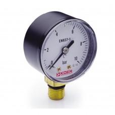 Манометр Koer радиальный 502R 10 bar, D=50мм, 1/4''