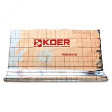Пленка Koer теплоотражающая металлизированная с разметкой, РУЛОН 50 м