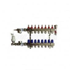 Коллектор Koer в сборе на 8 выхода (без насоса) с расходомерами и 1 сливной