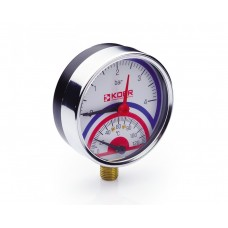 KOER Термо-Манометр радиальный 821R 4 bar, D=80мм, 1/2''