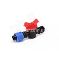 Кран для капельной ленты с 1/2 наружной резьбой Presto-PS TV-0117
