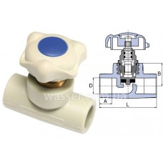 Проходной вентиль Wavin EK 40